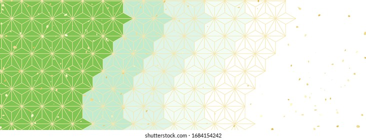 Traditional green Japanese style pattern reminiscent of green tea. The best background material for spring and early summer in Japan