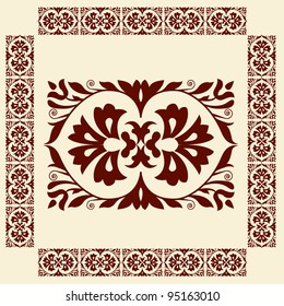 Traditional hungarian floral pattern