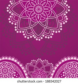Traditional Indian henna purple background