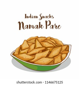 Traditional indian snacks namak pare