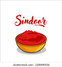 traditional indian tilak sindoor  vector illustration