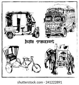 Traditional Indian Transport Set
