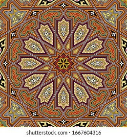Traditional Islamic Design, Seamless pattern, vector illustration Islamic Mosaic Design, seamless wallpaper