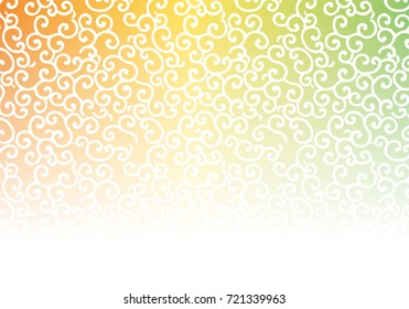 Traditional Japanese background, arabesque pattern, karakusa, vector data