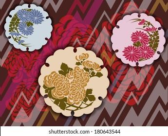 Traditional Japanese floral motifs in a modern interpretation