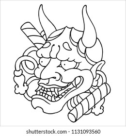 traditional japanese noh theater Hannya mask