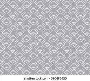 Traditional, Japanese pattern on white background. Vector art.