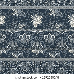 Traditional  Japanese style fabric patchwork wallpaper  abstract vector seamless  pattern