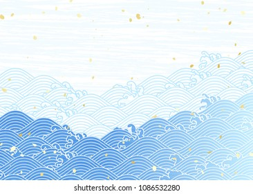Traditional Japanese wave pattern