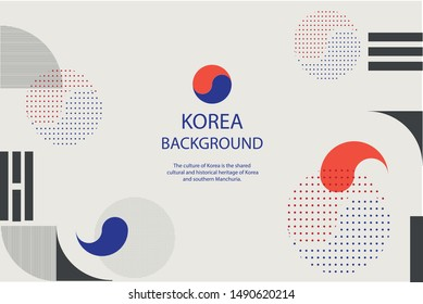 Traditional Korean Style Pattern Vactor