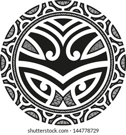 Circle Tribal Tattoo Images Stock Photos Vectors Shutterstock