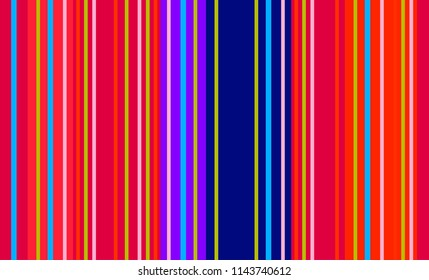 Traditional Mexican Colorful Sarape, Copy Space, Multicolor Lines, Background