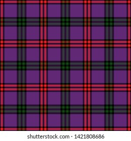The Traditional Modern Tartan of the Scottish Clan Montgomery. Seamless pattern for fabric, kilts, skirts, plaids