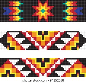 Traditional native American pattern, vector illustrations