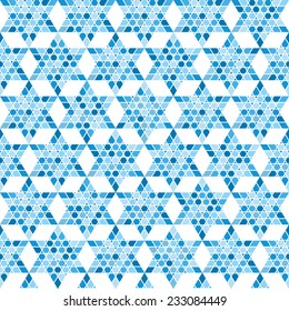 Traditional oriental tangled pattern. Seamless vector background. Plain colors - easy to recolor.