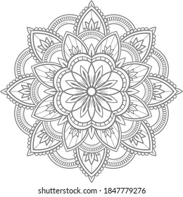traditional ornamental mandala, round ornament outline mandala, Floral circular mandala,Decorative round ornament