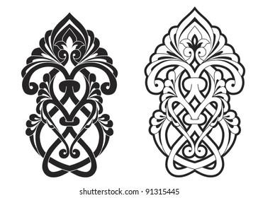 Traditional Ottoman motif vector illustration