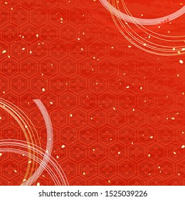 Traditional patterns like Japanese kimono fabrics and A string-shaped ornament called Mizuhiki