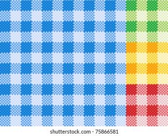 Traditional picnic tablecloth pattern