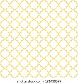 Traditional quatrefoil lattice pattern. Seamless vector background.