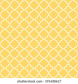 Traditional quatrefoil lattice pattern. Seamless vector background.