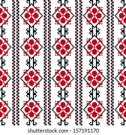 Traditional romanian embroidery pattern