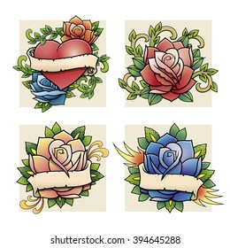 traditional roses set