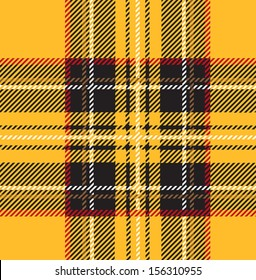 Traditional Seamless Yellow Tartan Pattern
