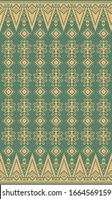 traditional songket textile texture background vector/illustration
