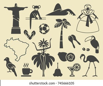Traditional symbols of culture and the nature of Brazil