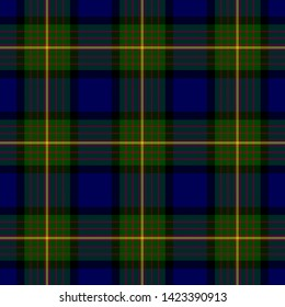 The Traditional Tartan of the Scottish Clan More/Muir. Seamless pattern for fabric, kilts, skirts, plaids