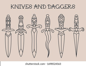Tattoo Knife Images Stock Photos Vectors Shutterstock It's a gorgeous tattoo this is a very small tattoo design but it still packs a punch. https www shutterstock com image vector traditional tattoo knives daggers sketches 1698524563