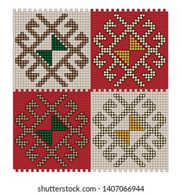 traditional turkish carpet pattern vector