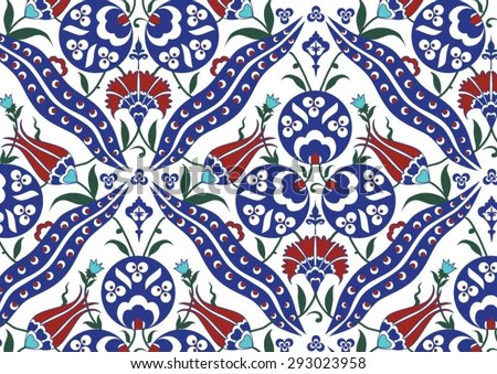 Traditional Turkish Ottoman Floral Pattern Stock Vector Royalty Magnificent Turkish Pattern