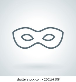 Traditional Venetian Carnival Mask Line Icon