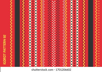 Traditional Weaved Igorot Costume. Philippines Tribal Ethnic Group Seamless Pattern