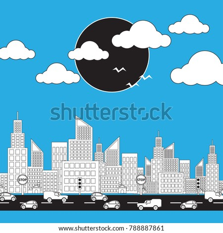 6a8552dba8 Royalty-free stock vector images ID  788887861. Traffic City with skyscraper