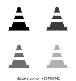 Traffic cone -  black vector icon