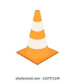 traffic cone cartoon vector. symbol. logo.