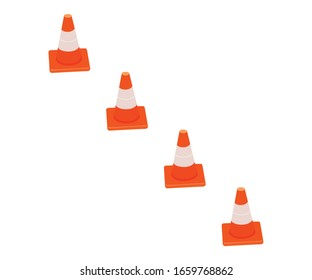 Traffic cone design vector file commercial use