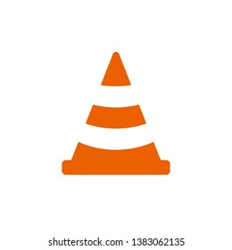 Traffic cone vector logo / typography A abstract