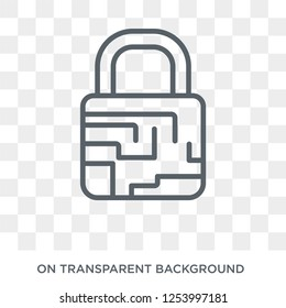 traffic encryption icon. Trendy flat vector traffic encryption icon on transparent background from Internet Security and Networking collection. High quality filled traffic encryption symbol use for