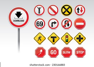 Traffic icon signs