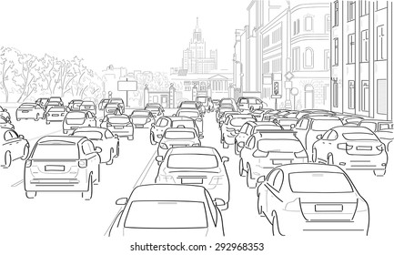 Drawing Traffic Images Stock Photos Amp Vectors Shutterstock