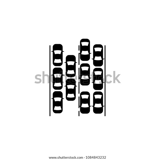 Traffic jam icon. Simple element illustration. Traffic jam symbol design from mess collection. Can be used in web and mobile on white background