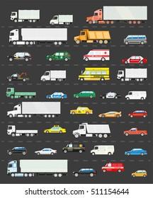 Traffic jam on the road, Road transportation concept illustration, Vector background