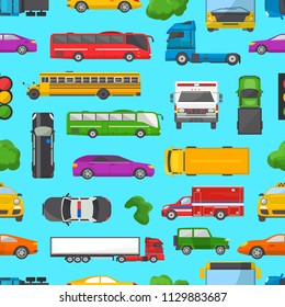 Traffic jam vector transport car vehicle and bus in the rush hour on highway road vector illustration set of transportation congestion of automobiles and minivans in jammed line