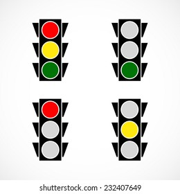 Traffic lamps. eps 10 vector