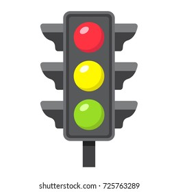 Traffic light flat icon, stoplight and navigation, regulation sign vector graphics, a colorful solid pattern on a white background, eps 10.