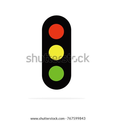 Traffic Light Icon Road Sign Restriction Stock Vector Royalty Free